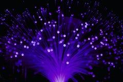 Luz ultravioleta de la lámpara de la fibra óptica Foto de archivo libre de regalías