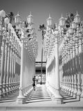 Luz urbana de LACMA Fotografía de archivo
