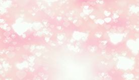 Luz - Valentine Hearts Background cor-de-rosa Foto de Stock Royalty Free