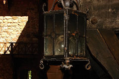 Luz velha da lâmpada de rua Fotos de Stock Royalty Free