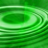 Luz verde de las ondulaciones Fotografía de archivo libre de regalías