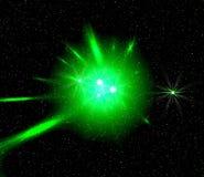 Luz verde do espaço ilustração royalty free