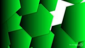 Luz verde do hexágono do fundo do sumário do vetor ilustração do vetor