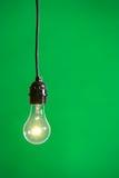 Luz verde en el estudio Foto de archivo libre de regalías