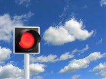 Luz vermelha. Fotografia de Stock Royalty Free