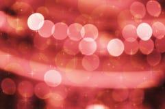 Luz vermelha do borrão com estrelado brilhante Fotos de Stock Royalty Free