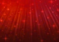 Luz vermelha do borrão com estrelado brilhante Fotografia de Stock