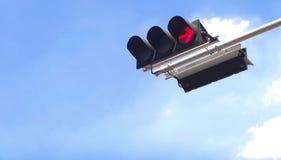 Luz vermelha do tráfego Fotografia de Stock Royalty Free