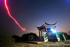 Luz vermelha engraçada a um pavilhão Fotografia de Stock