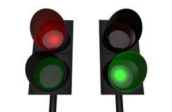 Luz vermelha, luz verde ilustração do vetor