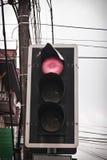 Luz vermelha na estrada Fotos de Stock Royalty Free