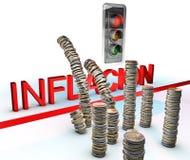 Luz vermelha na inflação Imagem de Stock Royalty Free