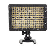 Luz video llevada para la cámara en el fondo blanco Fotografía de archivo libre de regalías