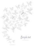 Luz - voo cinzento da borboleta dos furos redondos ilustração royalty free
