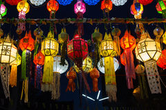 Luz y color de la lámpara Fotografía de archivo libre de regalías