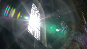 Luz y edificios, naturaleza de Sun, almacen de video