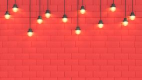 Luz y espacio rojos 3d de la escena de la pared rendir el fondo abstracto del concepto 3d del A?o Nuevo del d?a de fiesta de la N stock de ilustración