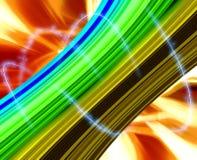 Luz y línea fondo amarillo del subcultivo Foto de archivo libre de regalías
