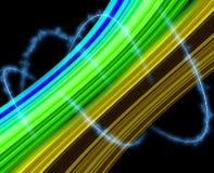 Luz y línea fondo negro del subcultivo Imagen de archivo