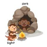 Luz y oscuridad opuestas ilustración del vector