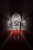 Luz y sombra en la puerta Fotografía de archivo