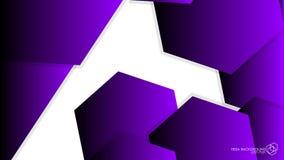 Luz y sombra púrpuras del hexágono del fondo del extracto del vector stock de ilustración