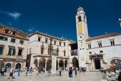 Luzavierkant in de oude stad van Dubrovnik Royalty-vrije Stock Fotografie