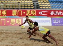 Luzequan et linwuqin dans le jeu Photo libre de droits