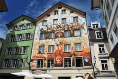 Luzern, граффити улицы Стоковое Фото