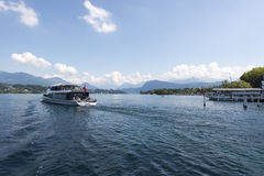 Luzern central boat station Stock Photography