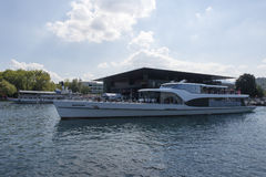 Luzern central boat station Stock Images