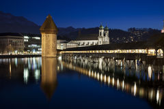 Luzern Chapel Bridge Stock Photo