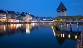 Luzern Chapel Bridge Royalty Free Stock Image