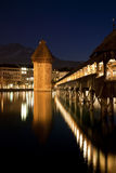 Luzern Chapel Bridge Royalty Free Stock Photography