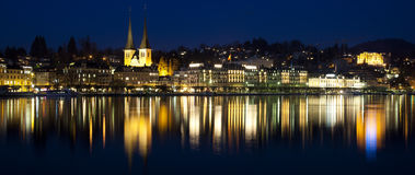 Luzern Chapel Bridge Stock Photography