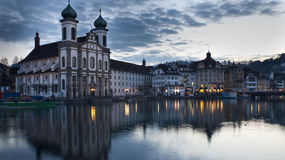 Luzern Church Royalty Free Stock Photos