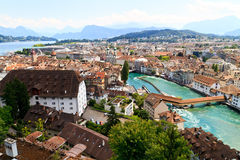 Luzern City View Royalty Free Stock Images