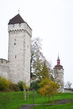 Luzern City Wall with medieval tower Stock Images