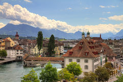 Luzern cityscape Royalty Free Stock Image