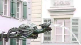 Luzern, ein Brunnen stock footage