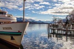 Luzern i Schweiz arkivbild