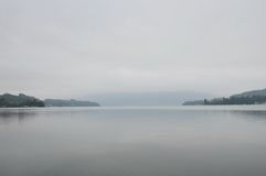 Luzern lake in dull Stock Photography