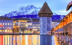 Luzern lake Switzerland. Morning Luzern lake switzerland,travel time clear water royalty free stock photos