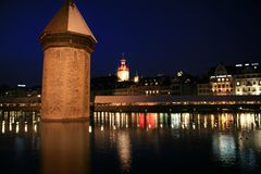 Luzern night Stock Photography