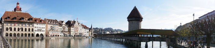 Luzern Panorama in a spring day Royalty Free Stock Image