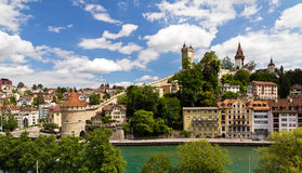 Luzern river cityscape Royalty Free Stock Image