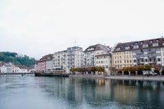 Luzern Schweiz, Arkivfoto