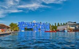 LUZERN SCHWEIZ - 10 Augusti 2016: Sjö- och fartygritt i Swis Arkivbilder