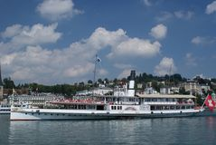 Luzern steam boat Stock Photography