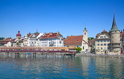 Luzern in summer Stock Image